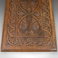Antique Side Table with Carved Decoration, English Oak c.1908 (9 of 9)