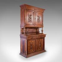 French Antique Show Cabinet, Victorian Cupboard c.1890