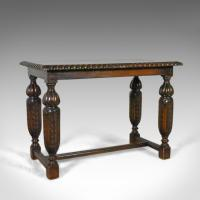 Antique Side or Coffee Table, Edwardian, Jacobean Revival, English c.1910