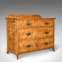 Antique Chest of Drawers, Satinwood, English, Victorian Bedroom c.1900