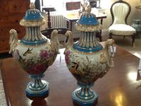 Classic Pair of Sevres Lidded Urns