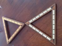 Pair of Victorian Triangular Cribbage Boards
