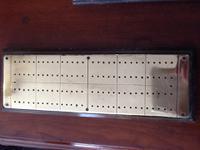 Hand Made Brass & Hardwood Cribbage Board
