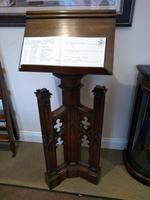 Victorian Oak Dual Sided Gothic Style Church Lectern
