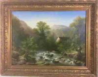 River Teign Devon c.1860