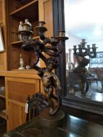 Pair of Bronze Cherub Candelabras (3 of 10)