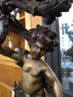 Pair of Bronze Cherub Candelabras (8 of 10)