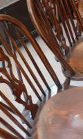 Pair of 20th Century Ash Windsor Chairs (5 of 5)
