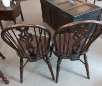 Pair of 20th Century Ash Windsor Chairs (3 of 5)