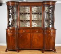 19th Century Mahogany Inverted Breakfront Bookcase