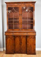 Early Victorian Flame Mahogany Bookcase