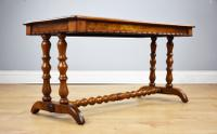 Victorian Walnut Parquetry Coffee Table (9 of 9)