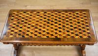 Victorian Walnut Parquetry Coffee Table (5 of 9)