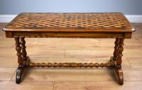 Victorian Walnut Parquetry Coffee Table (3 of 9)