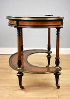 Victorian Burr Walnut Kidney Shaped Writing Table by Gillow (4 of 19)