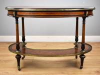 Victorian Burr Walnut Kidney Shaped Writing Table by Gillow (5 of 19)