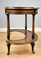 Victorian Burr Walnut Kidney Shaped Writing Table by Gillow (6 of 19)