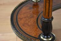 Victorian Burr Walnut Kidney Shaped Writing Table by Gillow (12 of 19)