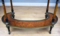 Victorian Burr Walnut Kidney Shaped Writing Table by Gillow (17 of 19)