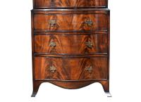 Antique Flame Mahogany Serpentine Chest On Chest (4 of 6)