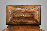 Regency Rosewood & Mother of Pearl Inlaid Tea Caddy (6 of 8)
