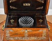 Regency Rosewood & Mother of Pearl Inlaid Tea Caddy (7 of 8)