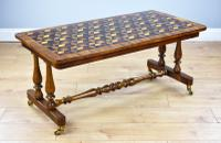 Victorian Walnut & Parquetry Inlaid Coffee Table