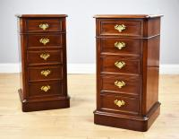 Pair of Victorian Mahogany Bedside Chests