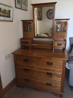 Arts & Craft Oak Mirror Back Drawers (2 of 4)
