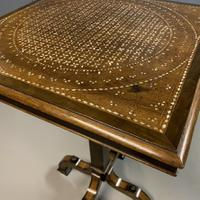 Rare Ebony & Ivory Inlaid Side Table in Moorish Style by Gillows (8 of 11)