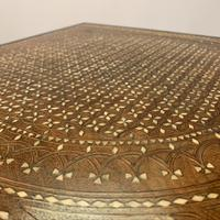 Rare Ebony & Ivory Inlaid Side Table in Moorish Style by Gillows (10 of 11)