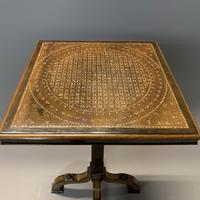 Rare Ebony & Ivory Inlaid Side Table in Moorish Style by Gillows (9 of 11)