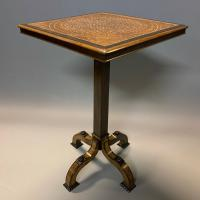 Rare Ebony & Ivory Inlaid Side Table in Moorish Style by Gillows