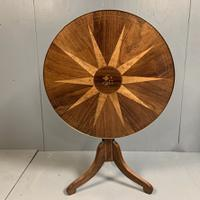 Early 19th Century Italian Rosewood & Maple Tilt Top Table