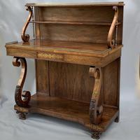 Grand Scale Regency Rosewood & Brass Chiffonier Cabinet
