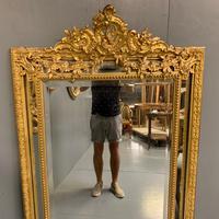 Large French Gilt Margin Frame Mirror 66'' (3 of 8)