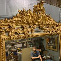 Large French Gilt Margin Frame Mirror 66'' (5 of 8)