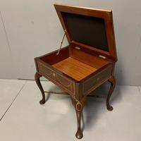 Edwardian Marquetry Piano Stool (3 of 7)