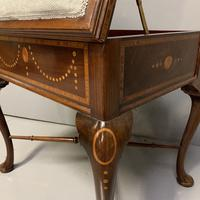 Edwardian Marquetry Piano Stool (5 of 7)