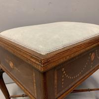 Edwardian Marquetry Piano Stool (6 of 7)