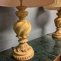 Pair of Vintage Plaster Lamps & Shades (5 of 7)