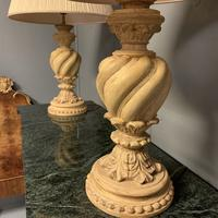 Pair of Vintage Plaster Lamps & Shades (4 of 7)