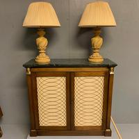 Pair of Vintage Plaster Lamps & Shades (2 of 7)
