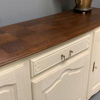 French Painted Sideboard with Oak Top c.1930 (3 of 12)