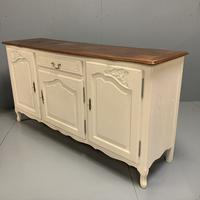 French Painted Sideboard with Oak Top c.1930 (4 of 12)