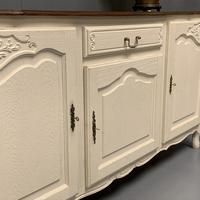 French Painted Sideboard with Oak Top c.1930 (6 of 12)