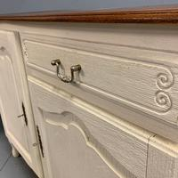 French Painted Sideboard with Oak Top c.1930 (5 of 12)