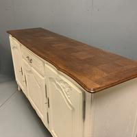 French Painted Sideboard with Oak Top c.1930 (7 of 12)