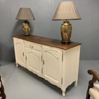 French Painted Sideboard with Oak Top c.1930 (10 of 12)