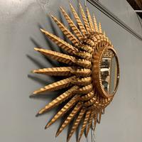 Spanish Sunburst Mirror in Gilt Toleware (4 of 6)